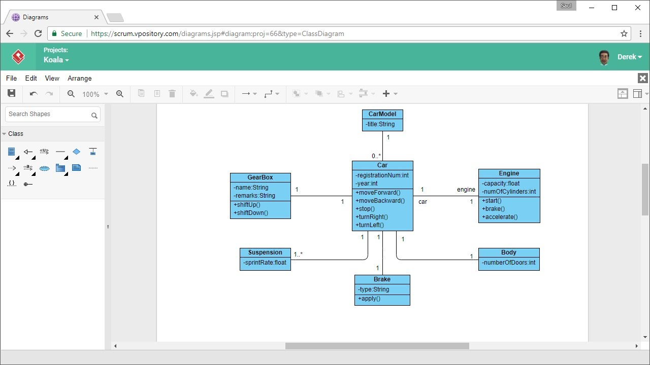 How To Draw Class Diagram Online within How To Draw Er Diagram In Word