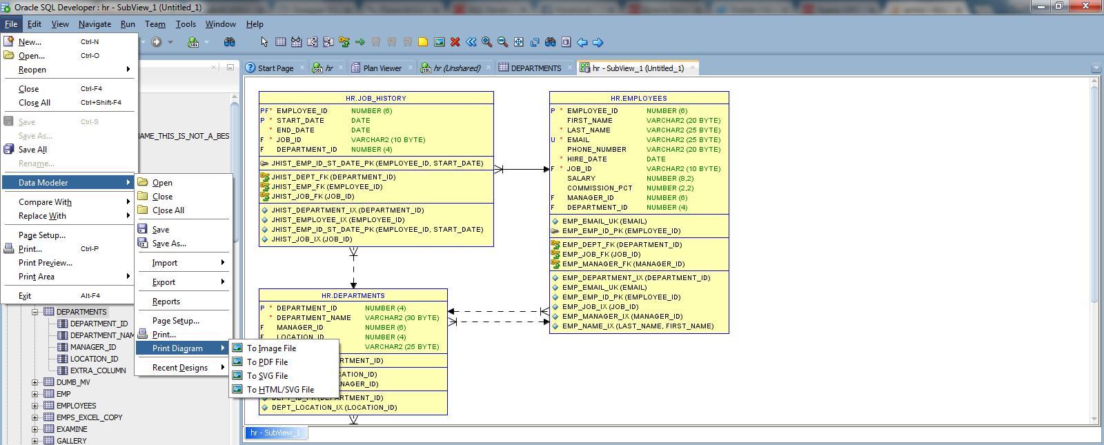 How To Export Erd Diagram To Image In Oracle Data Modeler in Generate Erd From Sql