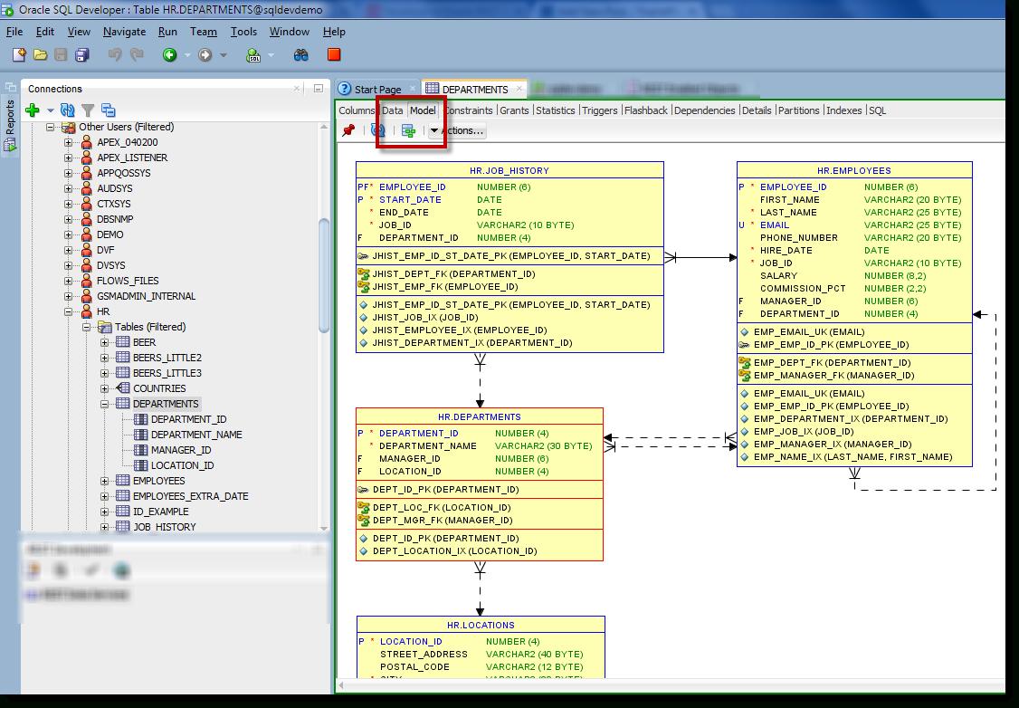 How To: Generate An Erd For Selected Tables In Sql Developer in Sql Er Model