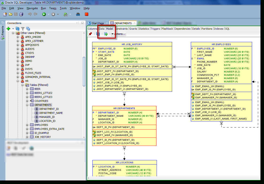 How To: Generate An Erd For Selected Tables In Sql Developer with Er Diagram Sql Server 2012