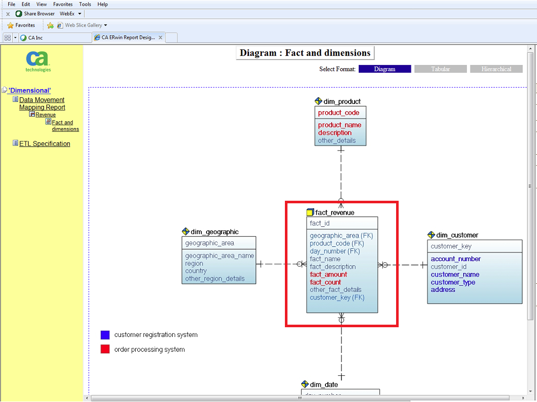 How To Generate Report On For Data Source Mapping - Data with regard to Erwin Diagram