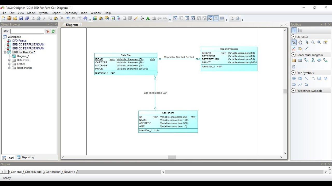 How To Make Erd In Power Designer inside Make Er Diagram