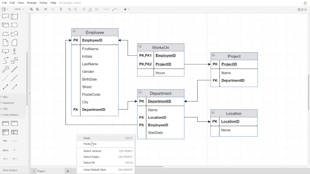 How To Normalize A Relational Data Model To 3Nf throughout Relational Model Diagram