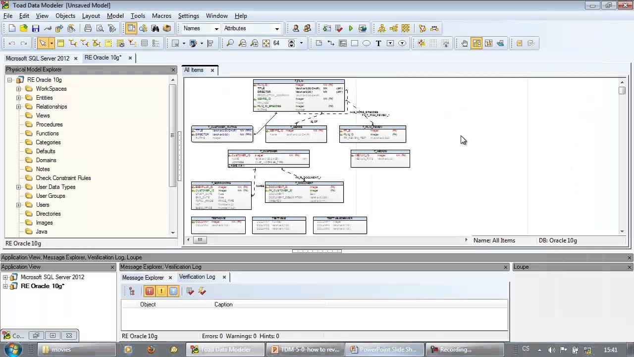 How To Reverse Engineer Database Structures With Toad Data Modeler for Er Diagram Toad