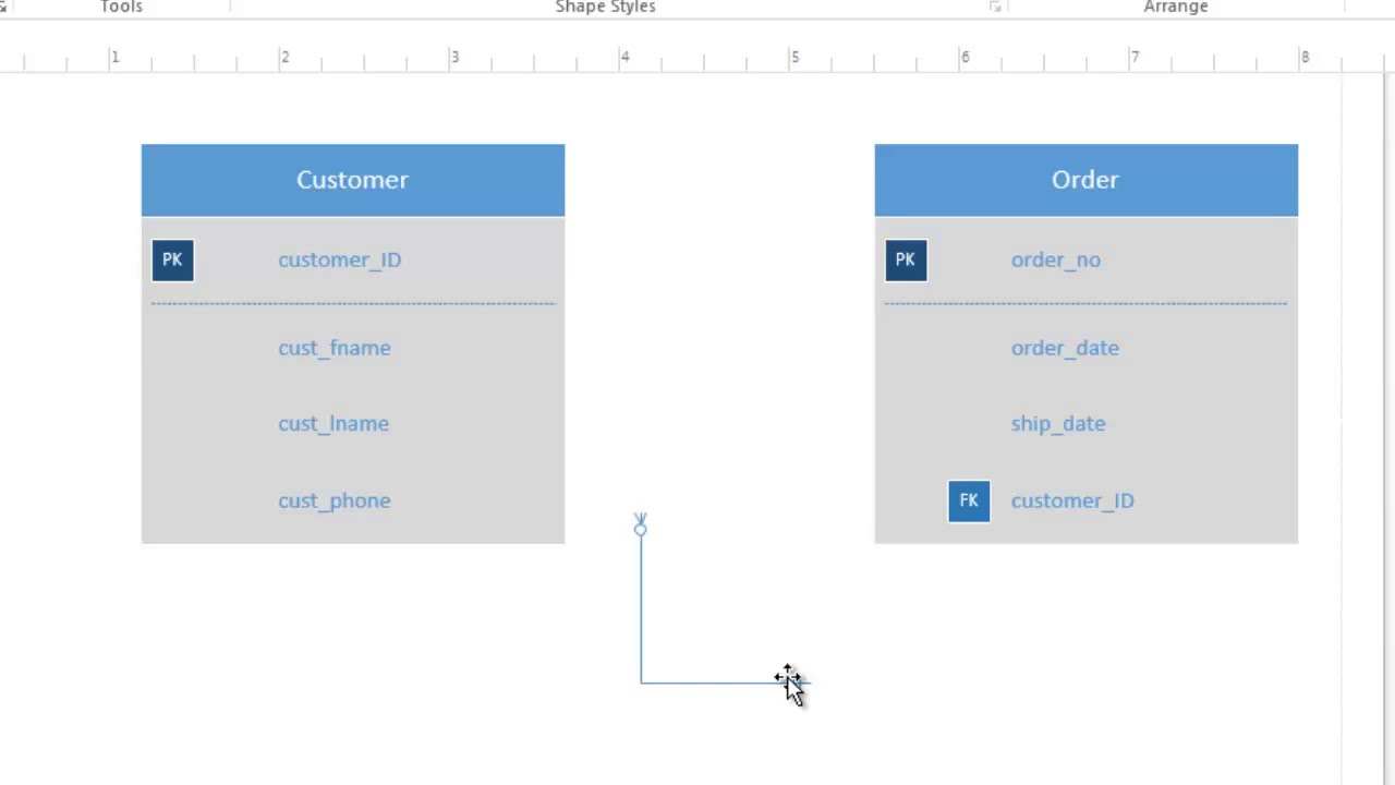 How To Use Visio 2016 For Conceptual Data Modeling And Er Diagram within Er Diagram Visio Template