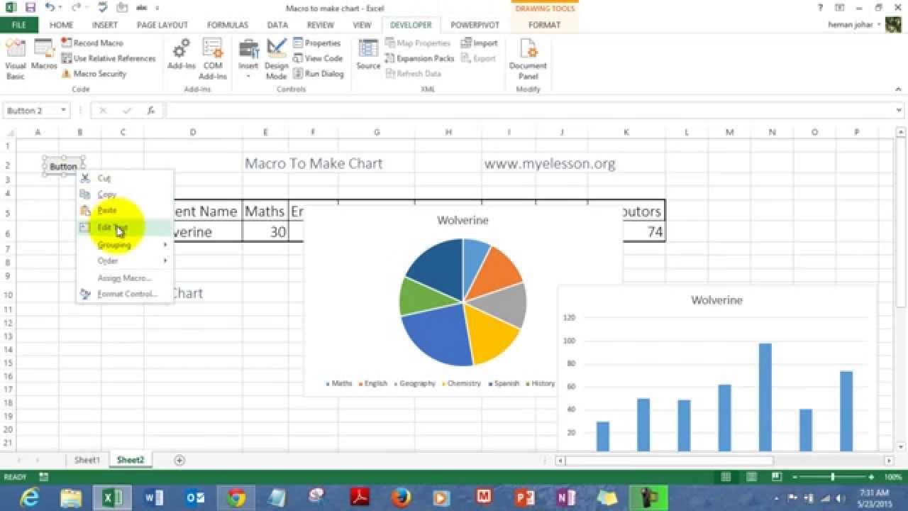 Macro To Create Charts In Excel regarding Er Diagram Excel