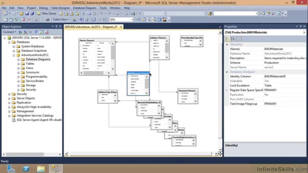 Microsoft Sql Server Exam 70-461 Tutorial   Saving Diagrams regarding Er Diagram Sql Server 2012