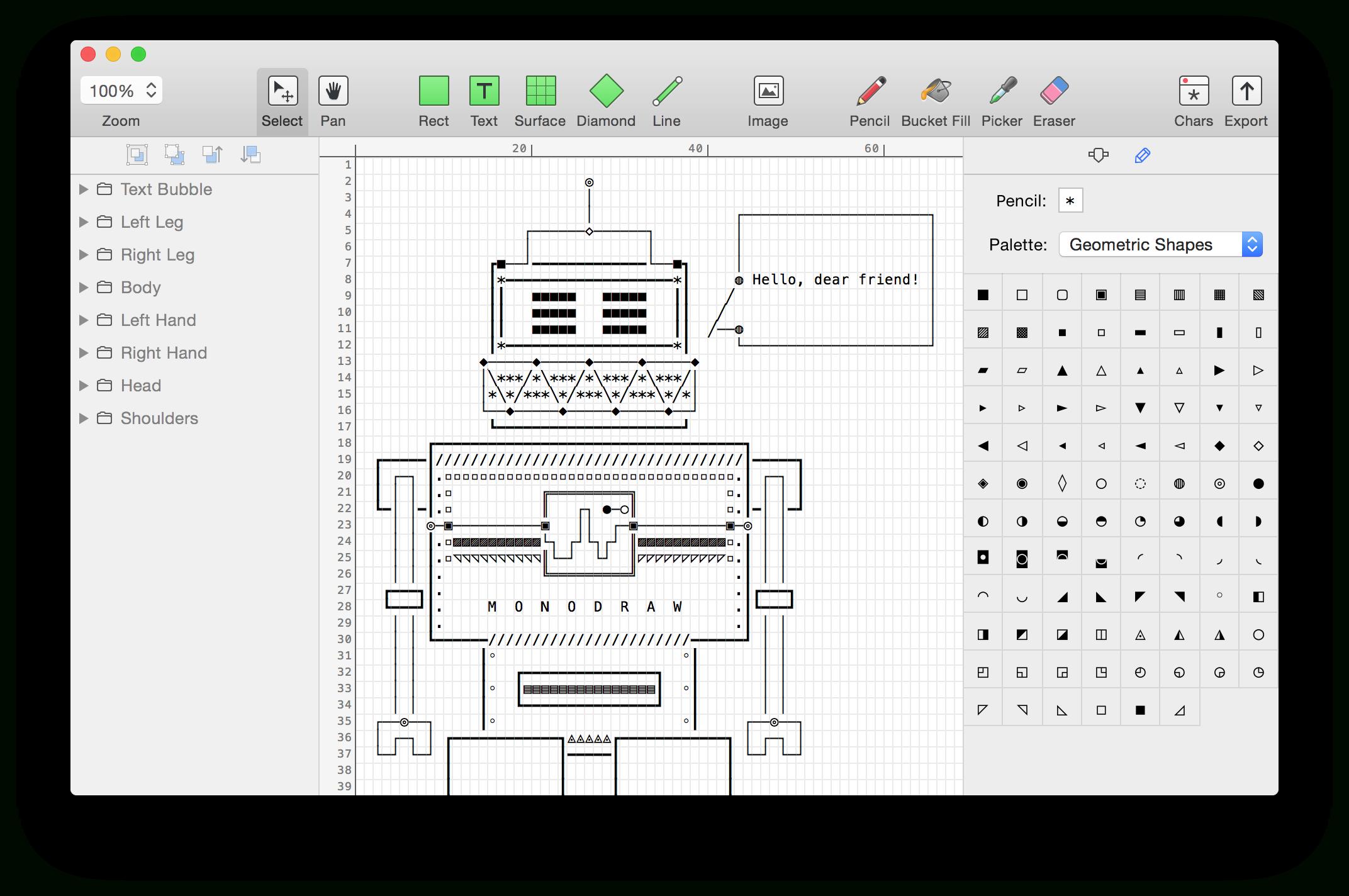 Monodraw For Macos — Helftone inside Os X Er Diagram Tool