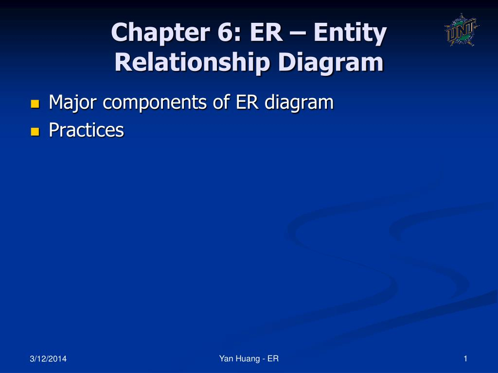 Ppt - Chapter 6: Er – Entity Relationship Diagram Powerpoint within Er Diagram Powerpoint