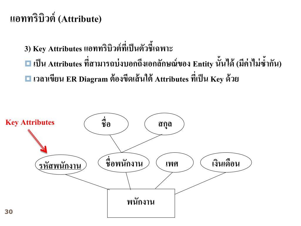 Ppt - บทที่ 2 E-R Model (Entity Relationship Model within บทที่ 4 Er Diagram
