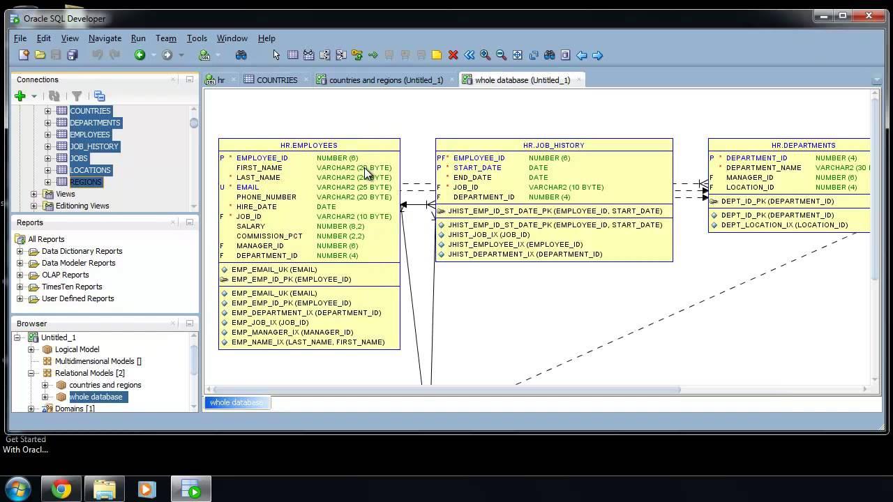 Sql Developer Er Diagram : Sqlvids in Er Diagram Generator From Sql