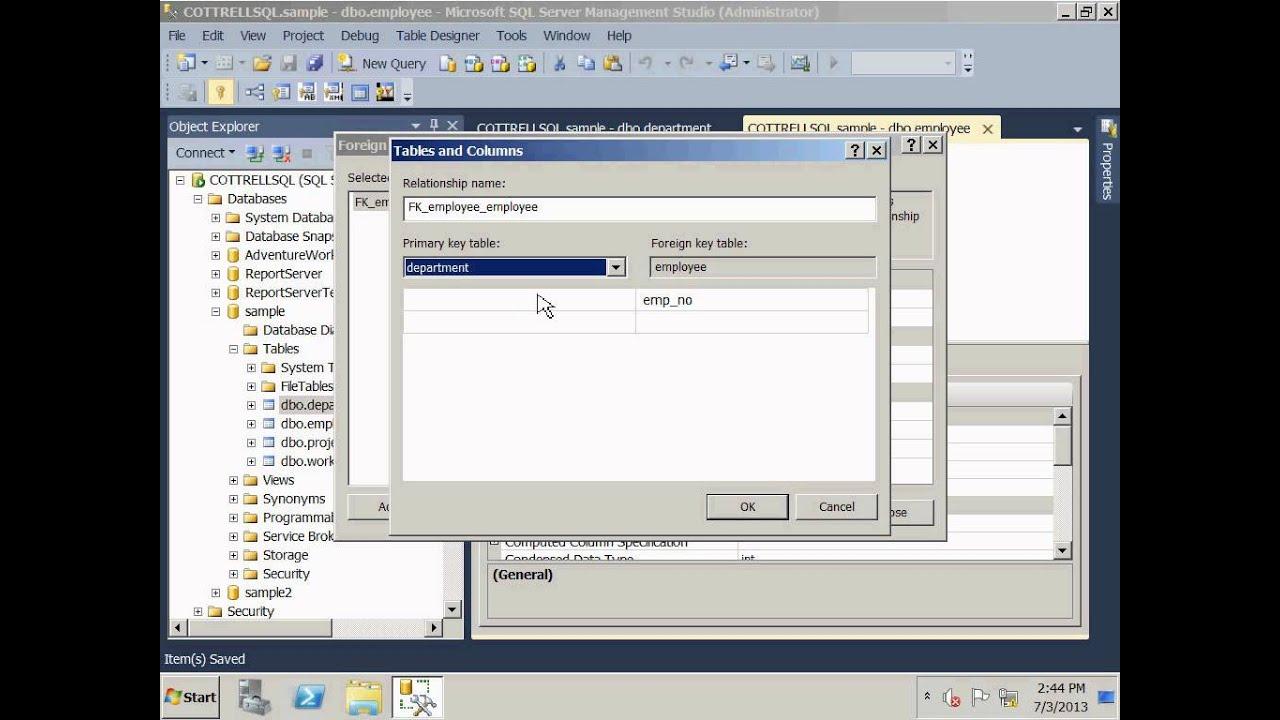 Sql Server 2012 Create Relationships And Er Diagram intended for Er Diagram In Sql Server 2005