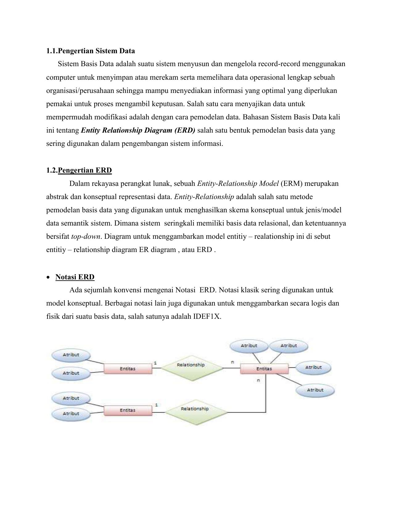 Studi Kasus Erd throughout Simbol Er Diagram Yg Berbentuk Elips
