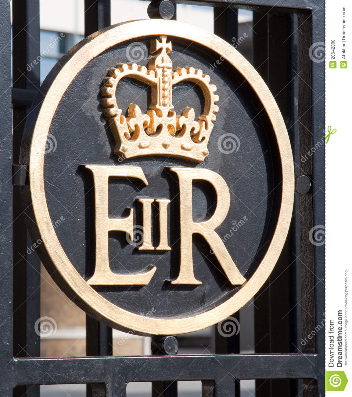 Symbol Of Queen Elizabeth Stock Photo. Image Of Kingdom with regard to Er Symbol