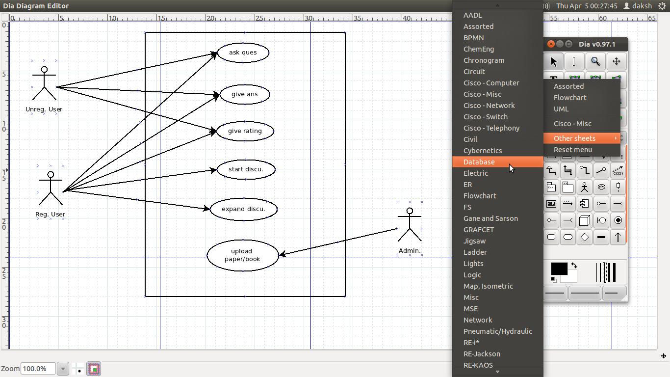 Ubuntu Blog: Dia : A Tool For Drawing Uml And Other Diagrams throughout Er Diagram Ubuntu