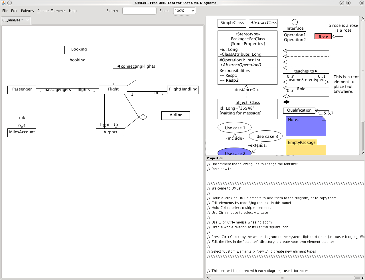 Umlet - Uml, Datenbank-Diagramme Und Mehr throughout Er Diagramm 1 Zu N