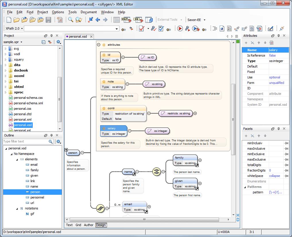 Visual Xml Schema Diagram Editor (Design Mode) with Er Diagram To Xml Schema Example