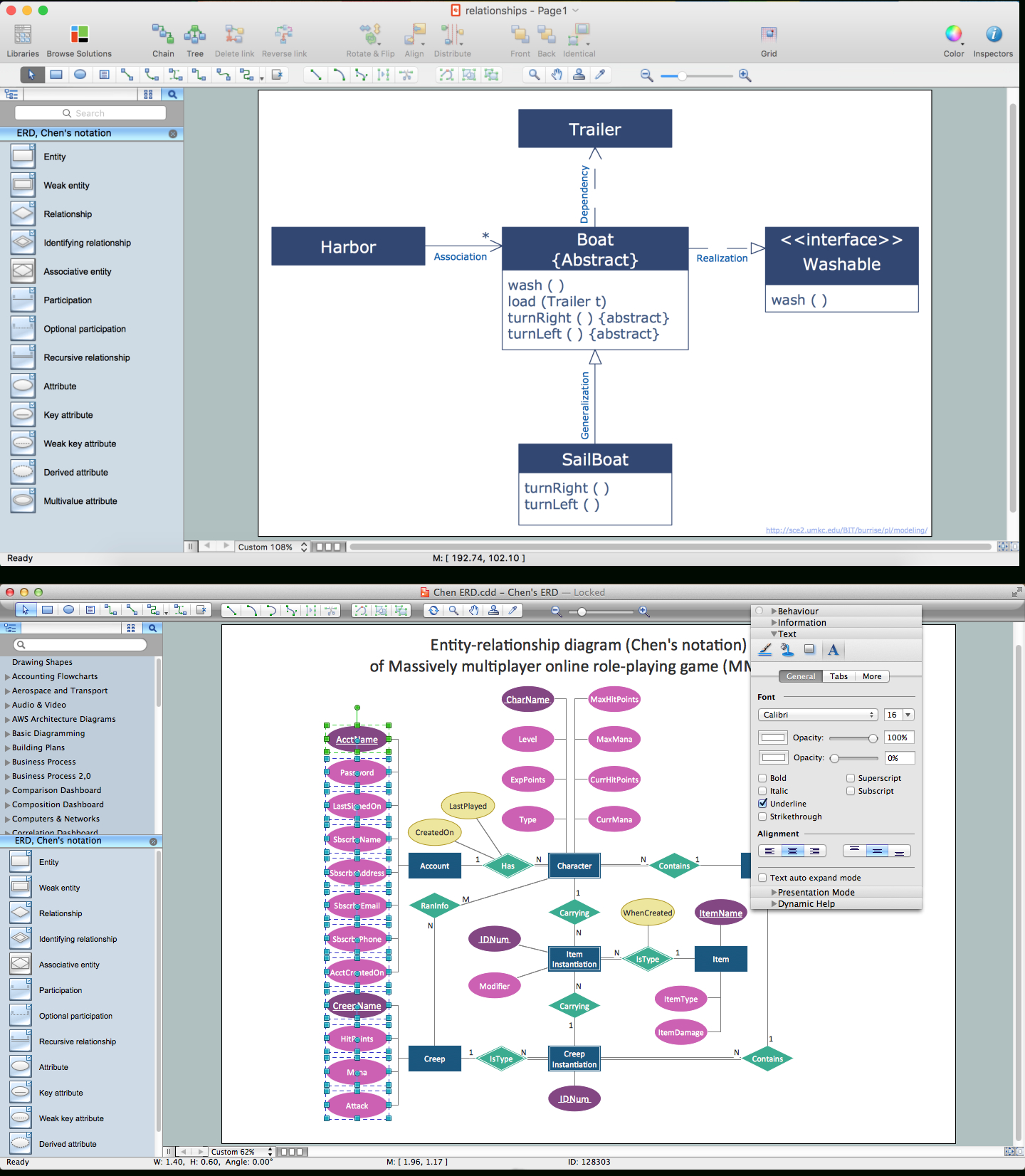 What's The Best Erd Tool For The Mac?   Professional Erd Drawing in Er Tool