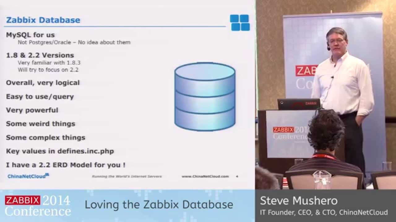 Zabbix Conference 2014 - Steve Mushero | Short Talk: Loving The Zabbix  Database regarding Zabbix Er Diagram
