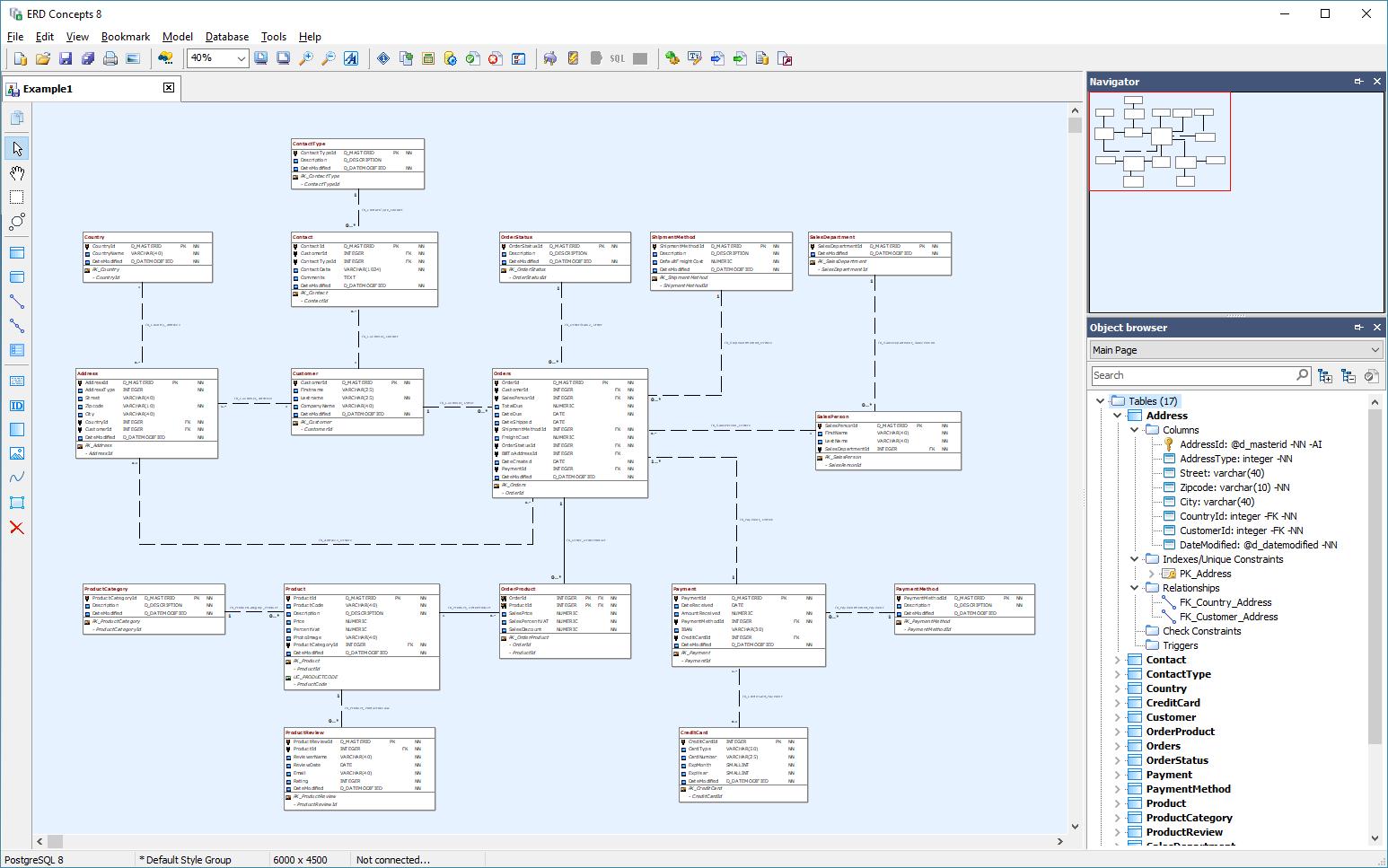 15 Database Diagram / Reverse Engineering Tools For Informix regarding Erd Editor