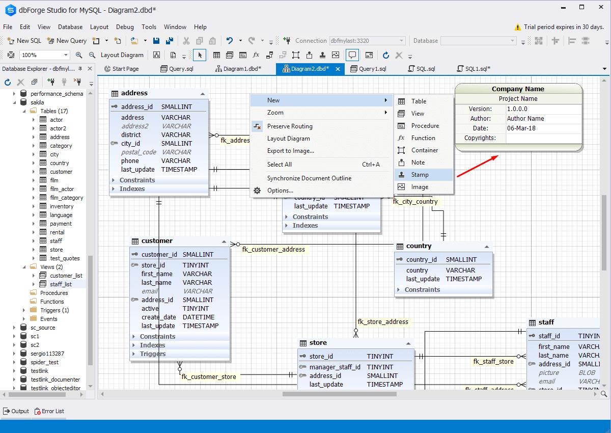 82 Database Diagram / Reverse Engineering Tools - Dbms Tools in Er Diagram Visual Studio 2017