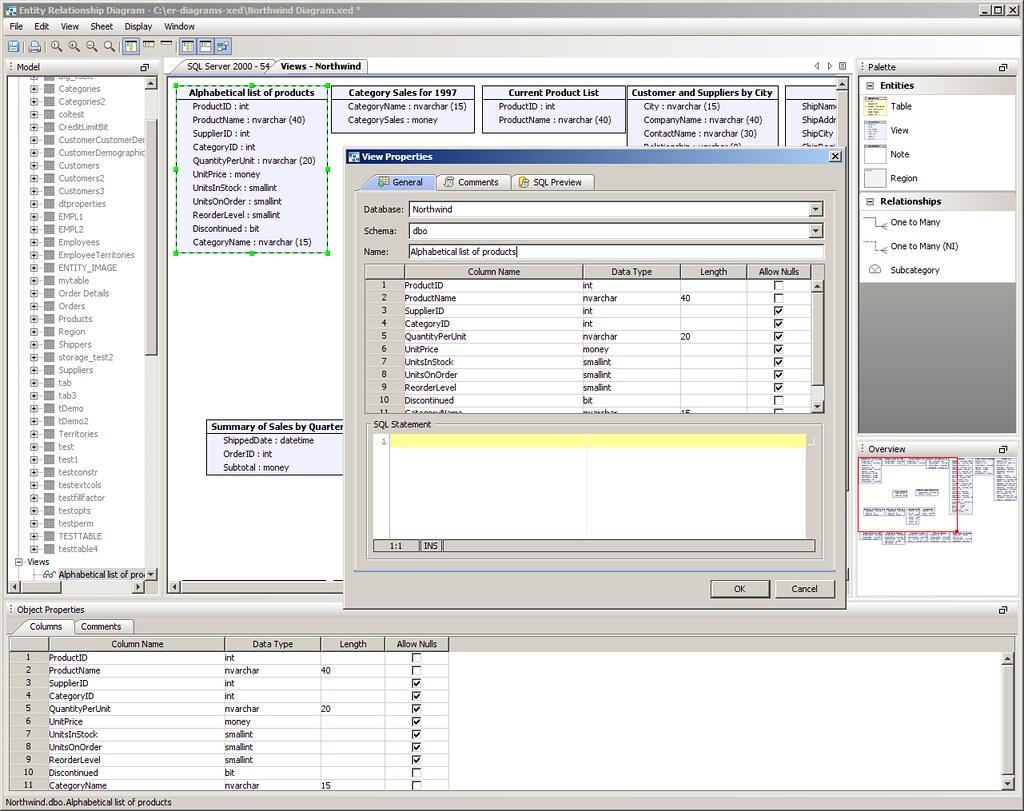 Aqua Data Studio Er Modeler - Edit Er Diagram - Schema Obj throughout Er Modeler