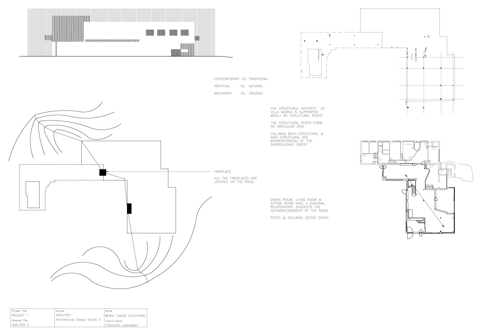 Arch1201: Drawings & Analysis in Relationship Drawings