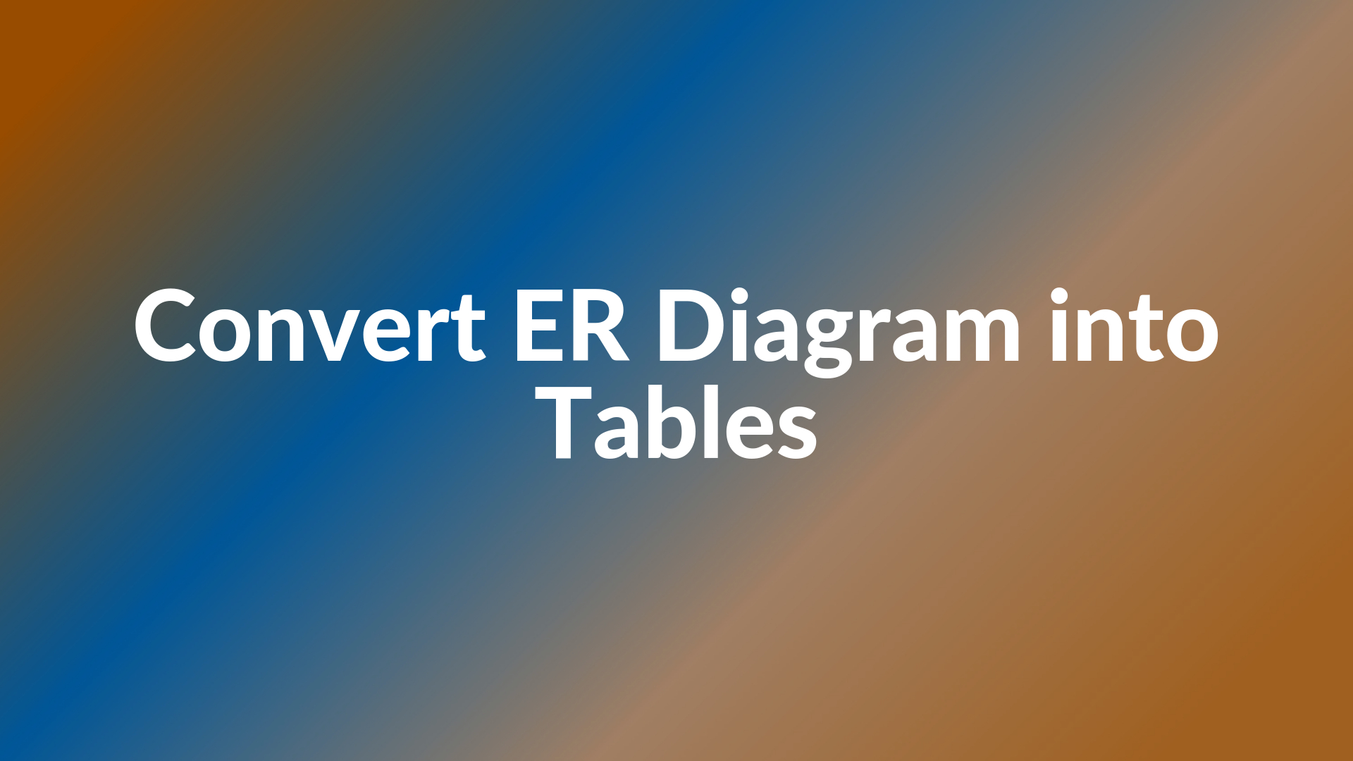 Convert Er Diagram Into Tables - Generalization pertaining to Er Diagram Generalisation Is Represented By