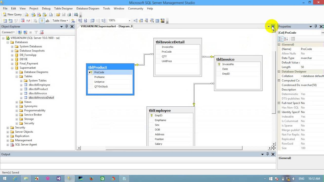 Create A Diagram With Sql Server 2012 - Youtube inside Sql Database Diagram
