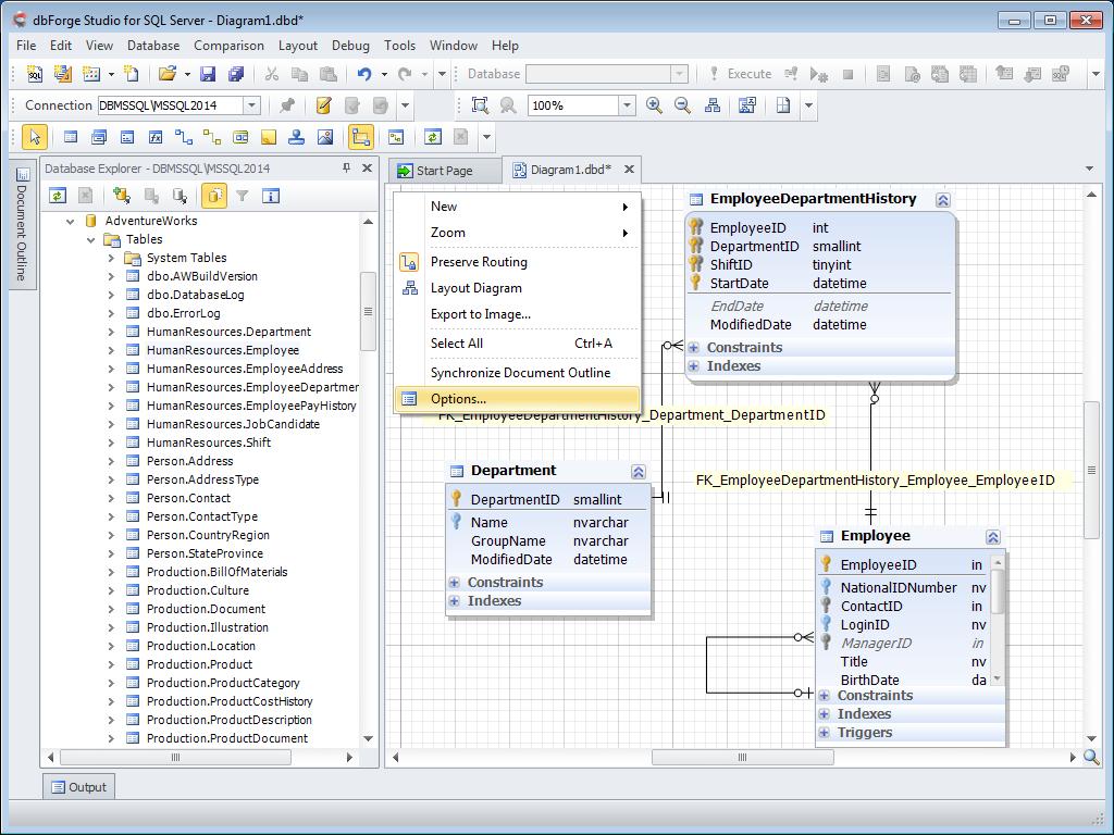 Инструменты Для Работы С Диаграммами Баз Данных Sql Server with regard to Database Diagram