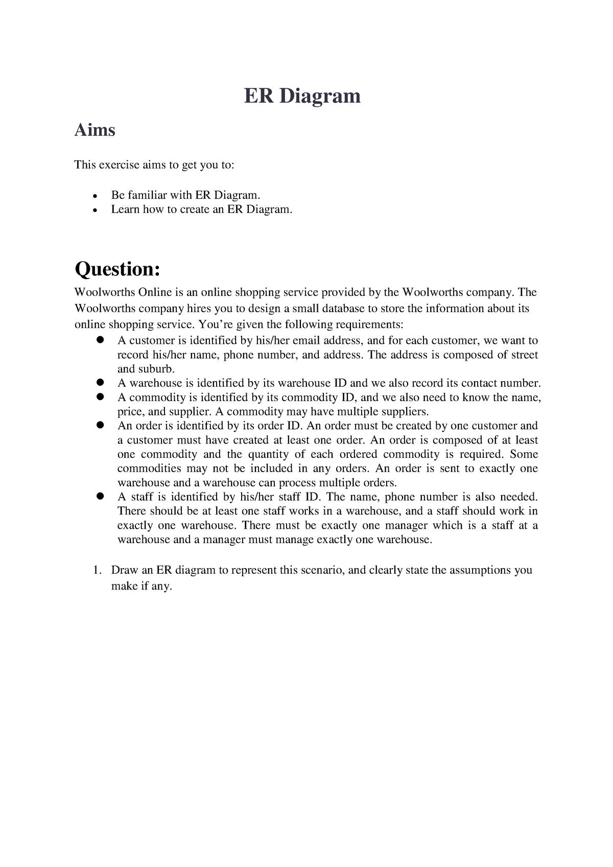 Data1001 Week5 Part1 Er Diagram - Unsw - Studocu for Er Diagram Assumptions