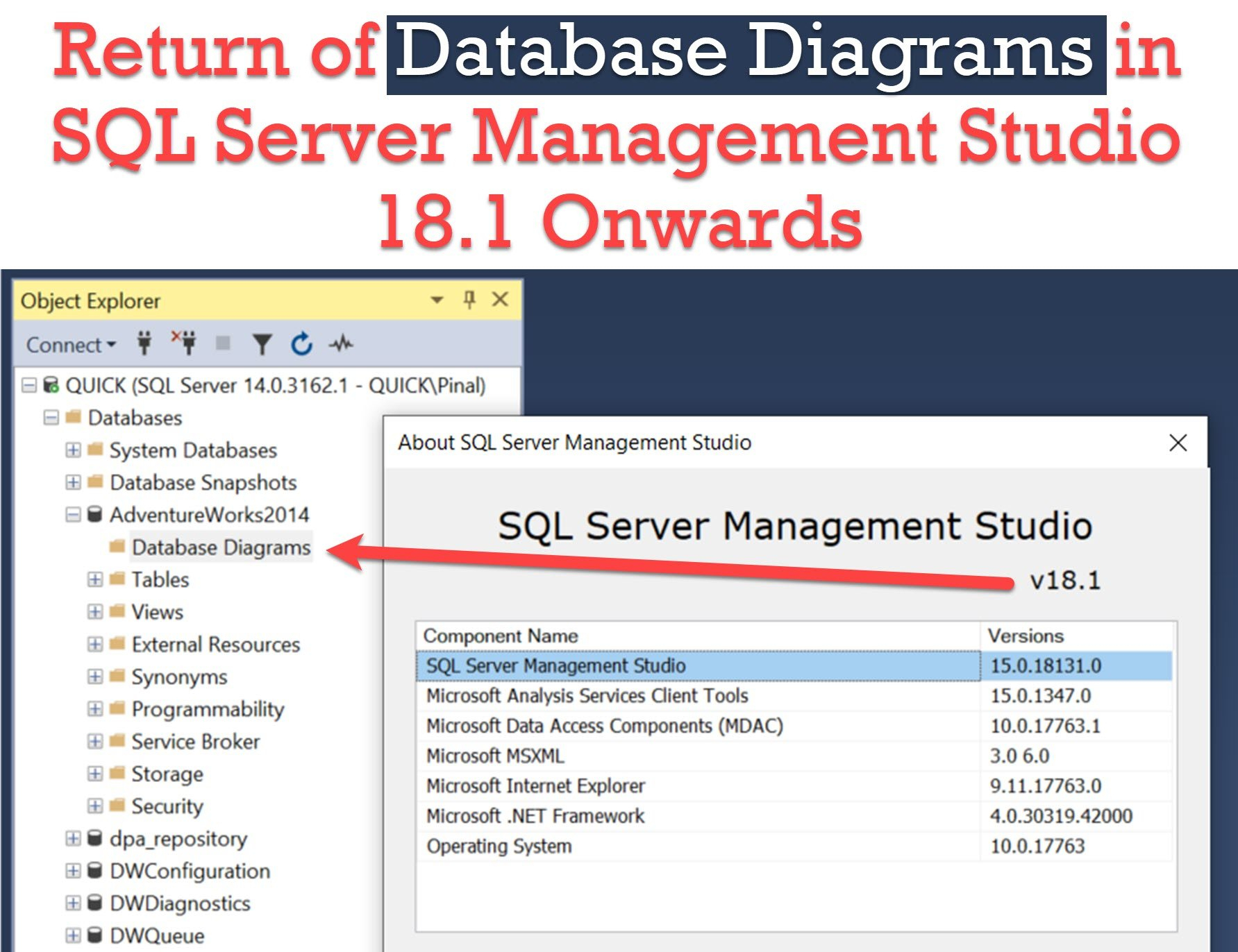 Database Diagram - Available Again In Sql Server Management with Er Diagram Visual Studio 2017