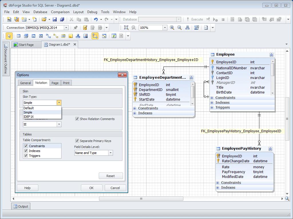 Database Diagram Tool For Sql Server regarding Er Diagram Visual Studio 2017