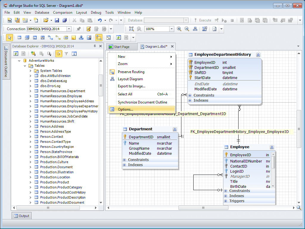Database Diagram Tool For Sql Server with Database Diagram Software Free
