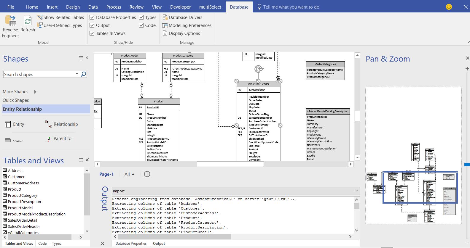 Database Reverse Engineering For Visio Pro | Orbus Visio Blog regarding Entity Relationship Diagram Visio 2016
