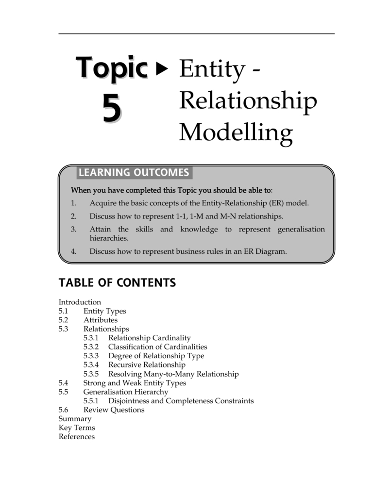 Entity - Relationship Modelling with regard to Er Diagram Generalisation Is Represented By