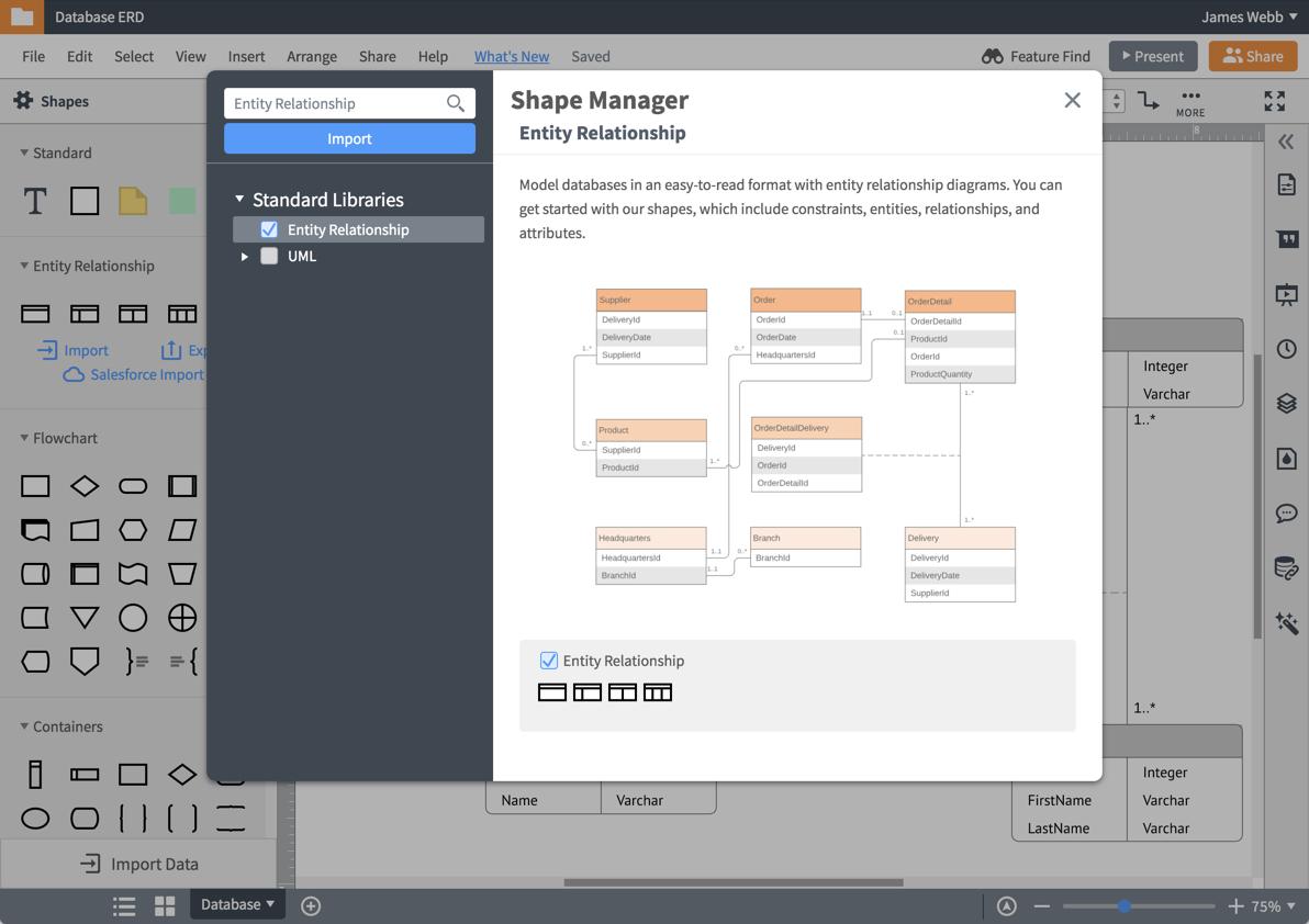 Er Diagram (Erd) Tool | Lucidchart throughout Er Diagram Online Free