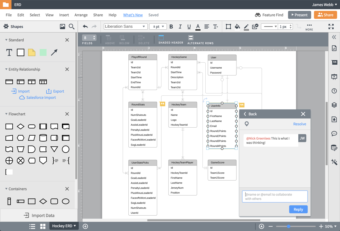 Er Diagram (Erd) Tool   Lucidchart with Entity Diagram Tool