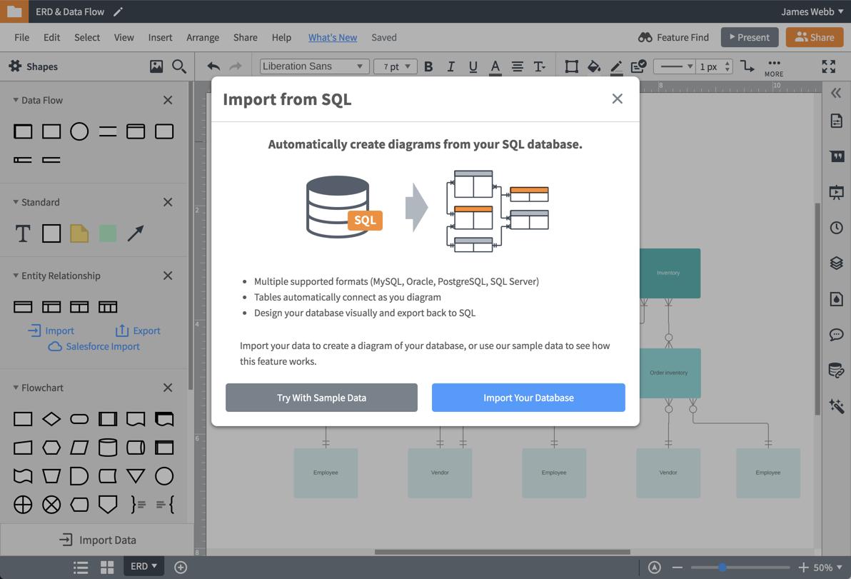 Er Diagram (Erd) Tool   Lucidchart with regard to Er Model Maker