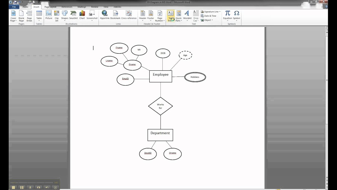 Er Diagram In Ms Word Part 8 - Illustrating Cardinality for Er Diagram Microsoft Word
