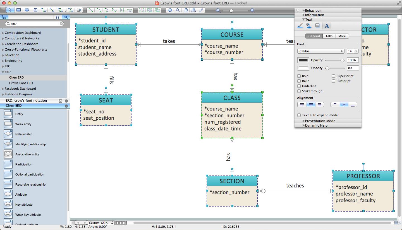 Er Diagram Programs For Mac | Professional Erd Drawing within Erd Diagram Tool