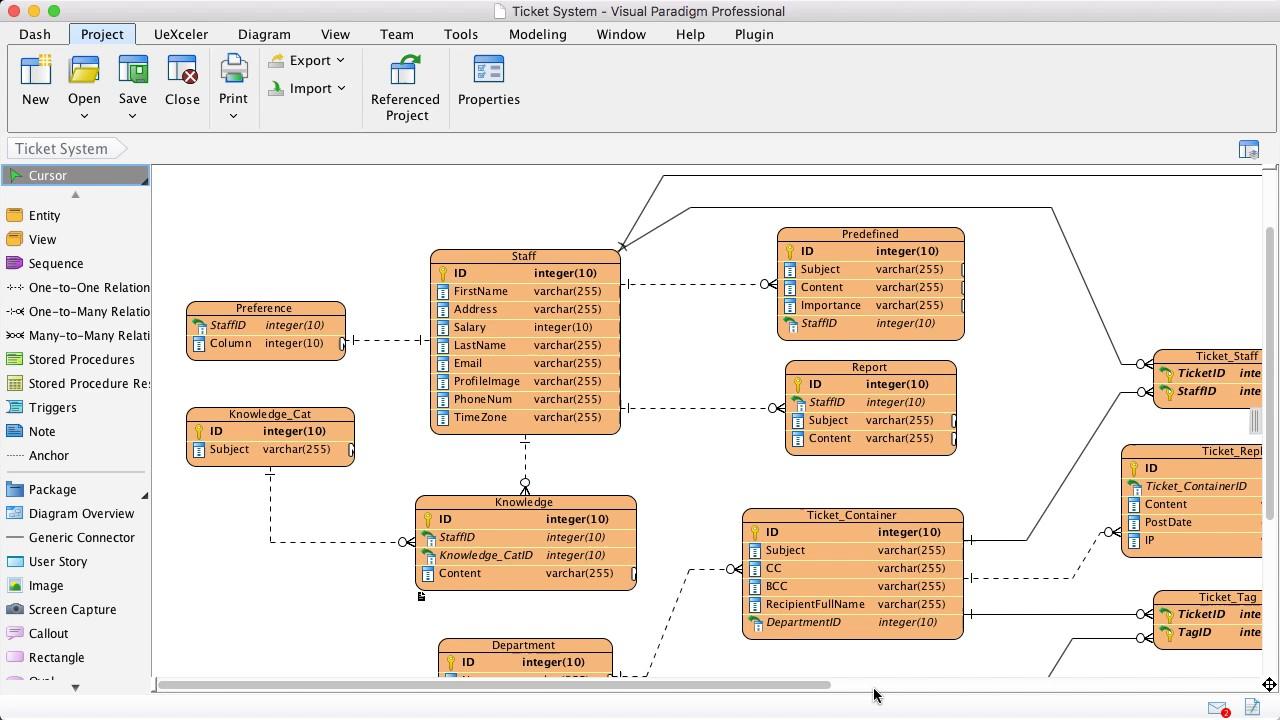Export Entities To Xml in Er Diagram From Xsd
