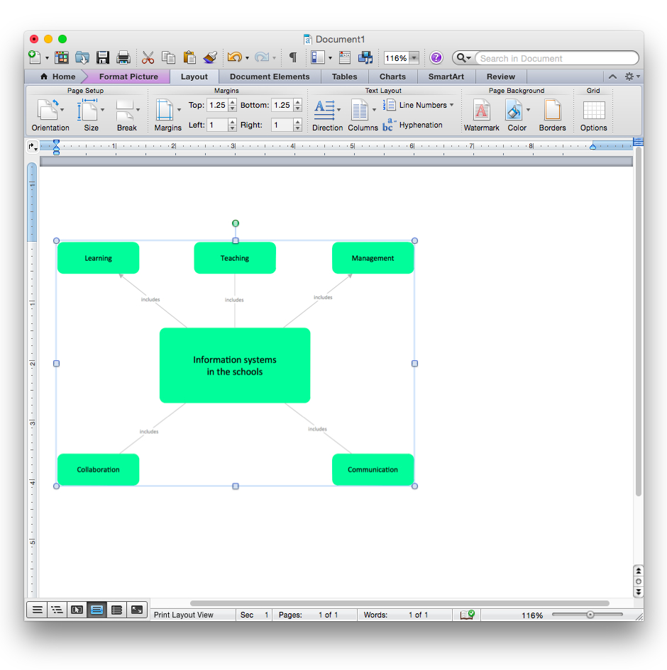 How To Add A Bubble Diagram To A Ms Word Document Using pertaining to Er Diagram Microsoft Word