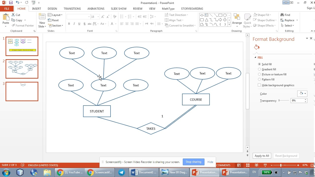 How To Draw Er Diagrams Using Microsoft Powerpoint - Part 2 in Er Diagram Zoo