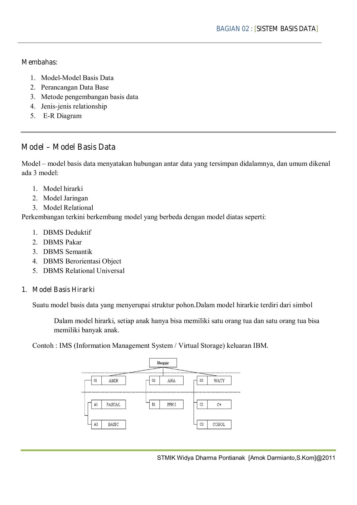 Model – Model Basis Data regarding Simbol Er Diagram Yg Berbentuk Elips Adalah