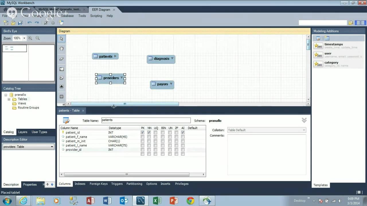 Mysql Tutorial: Creating An Entity-Relationship Diagram in Er Diagram In Mysql Workbench