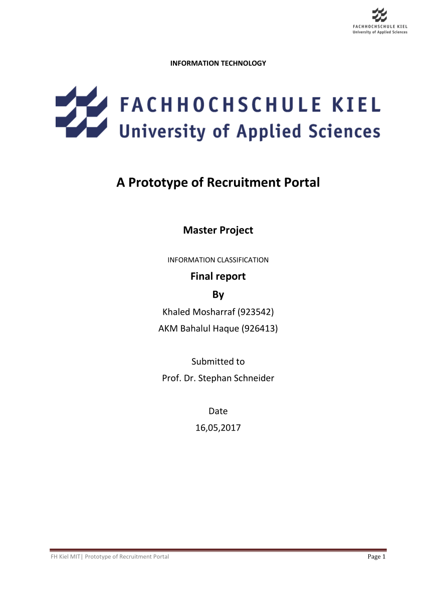 Pdf) A Prototype Of Recruitment Portal within Er Diagram Job Portal
