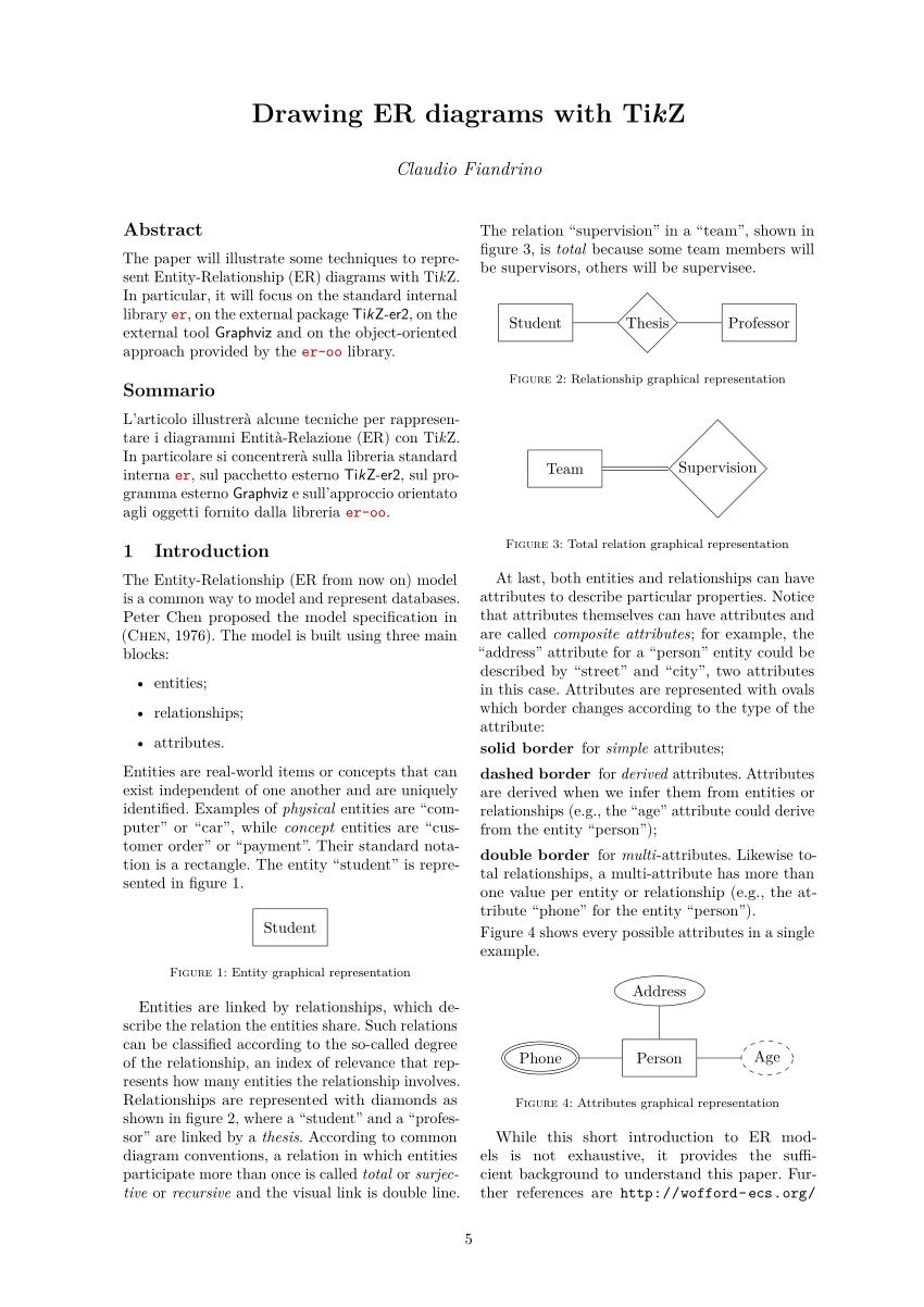 Pdf) Drawing Er Diagrams With Tikz for Er Diagram Latex