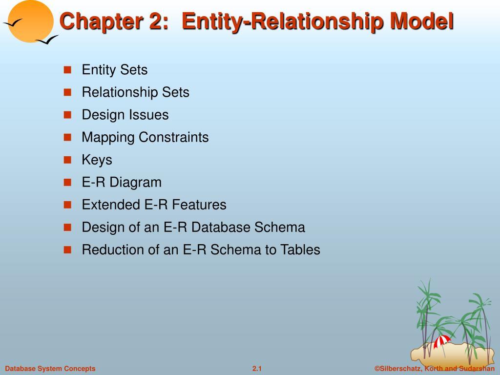 Ppt - Chapter 2: Entity-Relationship Model Powerpoint regarding Er Diagram Korth