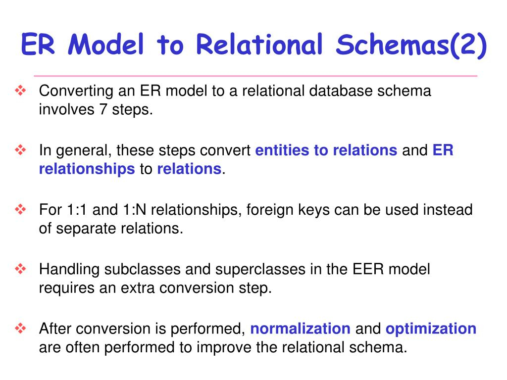 Ppt - Database Systems Design Part Iii : Mapping Er Diagram throughout Er Diagram Convert To Relational Schema